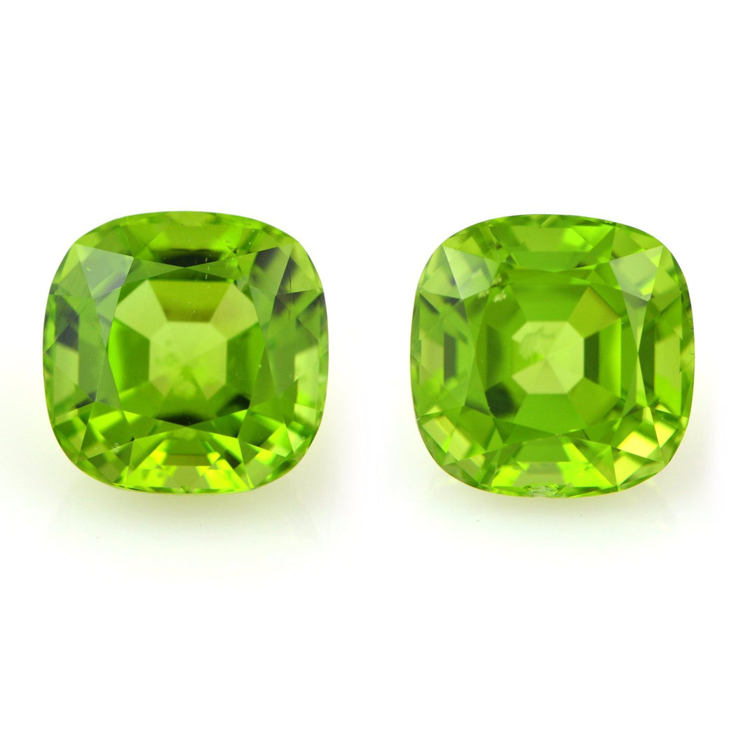Natural Cushion Peridot Pair