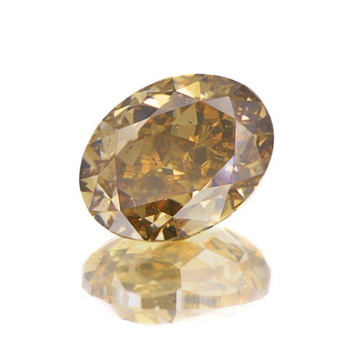 Natural Fancy Orange-Brown Oval Diamond