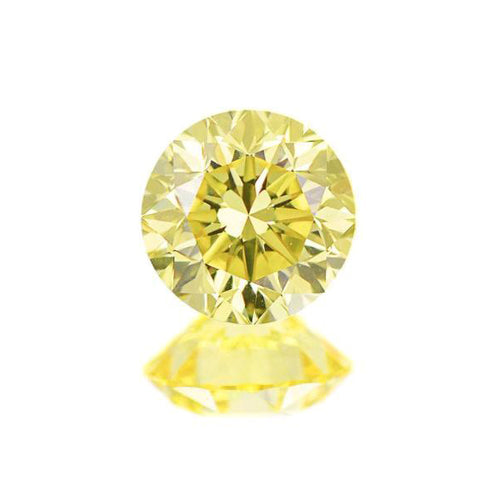 Natural Fancy Vivid Yellow Round Diamond