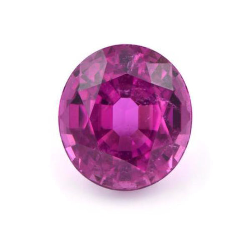 Natural Oval Rubellite Tourmaline