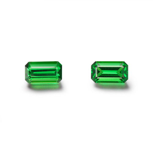 Pair of 1.74cts. Emerald Cut Tsavorite Gemstones