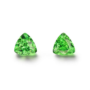 Pair of 2.32cts. Trilliant Cut Tsavorite Gemstones