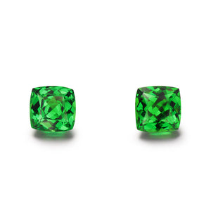 Pair of 2.81cts. Cushion Cut Tsavorite Gemstones