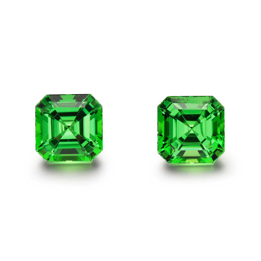 Pair of 4.07cts. Aschur Cut Tsavorite Gemstones