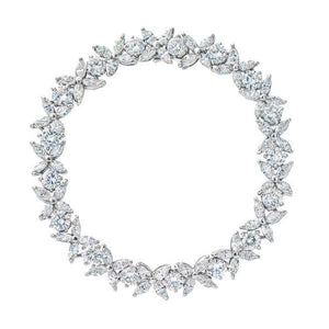 Marquise and Brilliant Diamond Platinum Bracelet