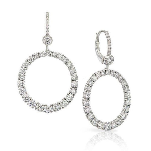 Platinum & Diamond Hoop Earring