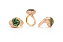 Load image into Gallery viewer, Fancy Tourmaline, 14K Pink Gold & 20K Yellow Gold & Diamond Ring
