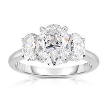 Load image into Gallery viewer, Oval Diamond Three Stone Ring