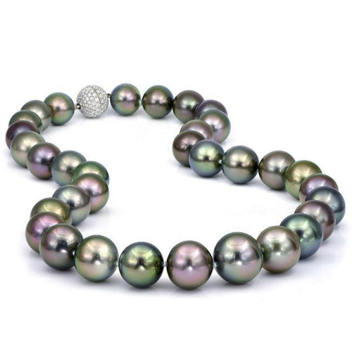 South Sea Baroque Pearl Strand with Diamond Clasp