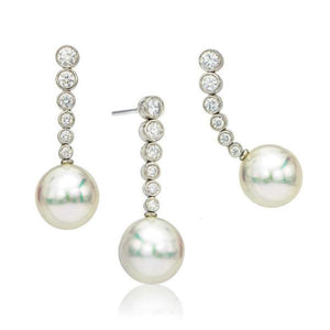 Southsea Pearl and Diamond Drop Earrings