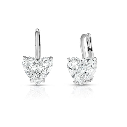 Heart Shaped Diamond Drop Earring