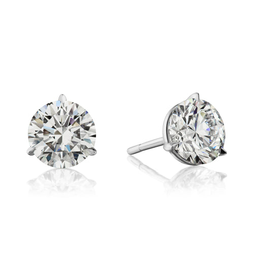 Image of Platinum and Diamond Earrings