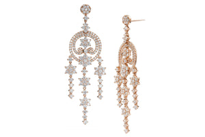"Rose Gold ""Hipster"" Chandelier Earrings"
