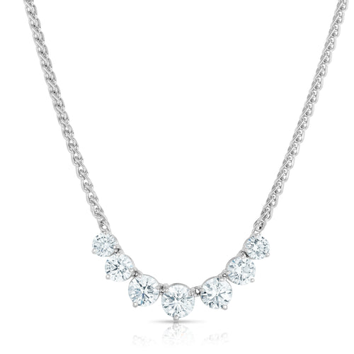Seven Stone Diamond Necklace