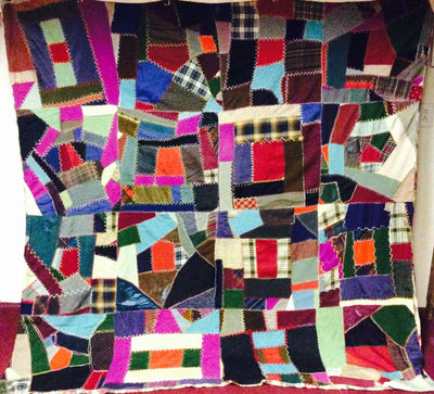 Housetop Abstract Quilt, 1930s