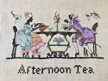 """Afternoon Tea"" Cross Stitch Linen"