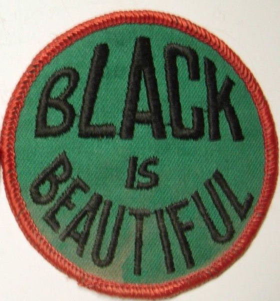 Vintage Black is Beautiful Patch