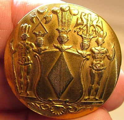 Brass Blackamoor Button