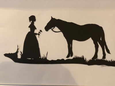 Lady and Horse by Vivia Barron Silhouettes