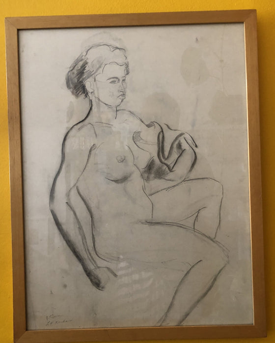 15 minute drawing (nude study) by L.H. Kasdan