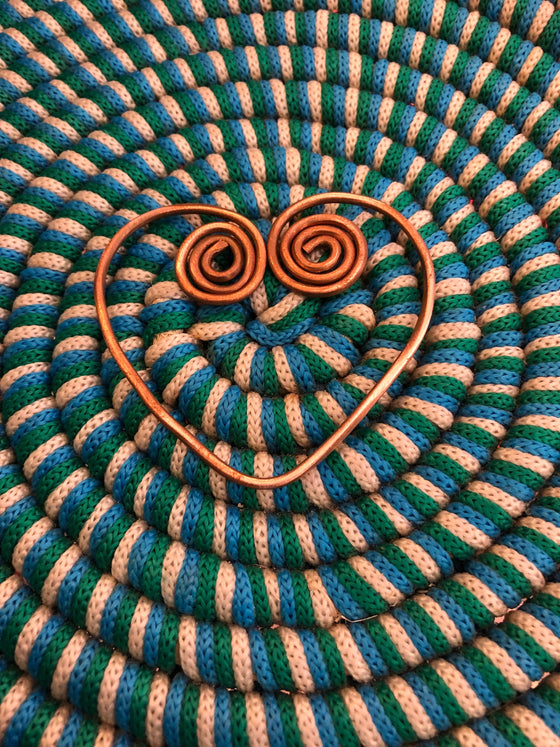 The Sage Gem Copper Sankofa Heart