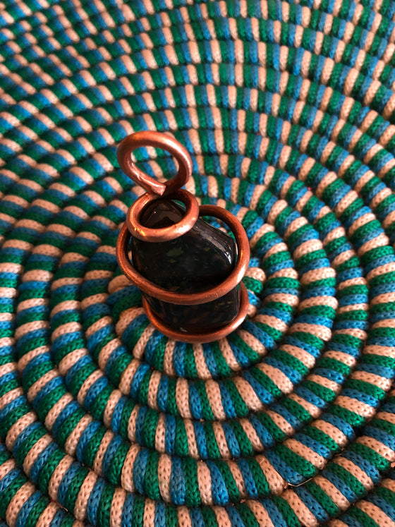 The Sage Gem Copper-Wrapped Bloodstone Pendant Necklace