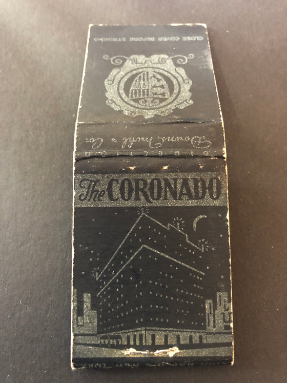 Matchbook with Bell Hops, Coronado Hotel, Chicago