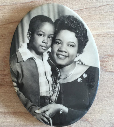 Mother and Son photo mirror