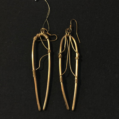 Yoruba Twins Bronze Earrings by Silk River Metals