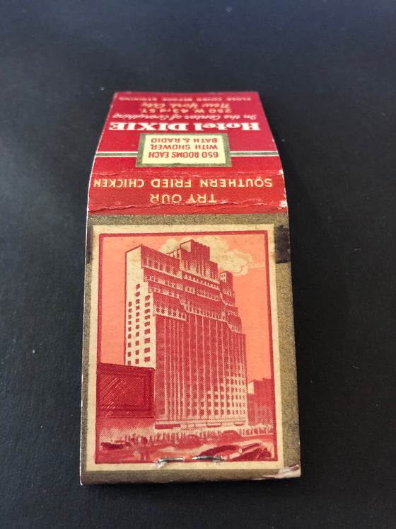 Hotel Dixie, New York City, Matchbook