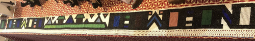 Ndebele beaded trim, circa 1980s