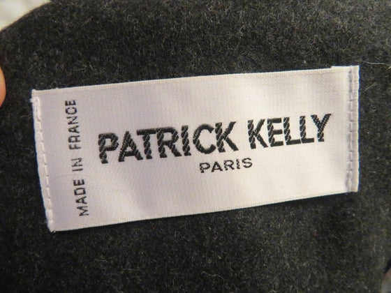 Patrick Kelly Charcoal Gray Contrast Lapel Suit