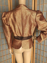 Duro Olowu London Bronze Metallic Silk Brocade Jacket