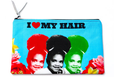 Rachel Stewart I Heart My Hair Clutch Bag