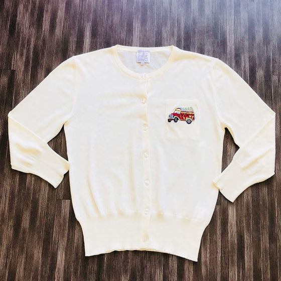 Stella Jean Cardigan with School Bus