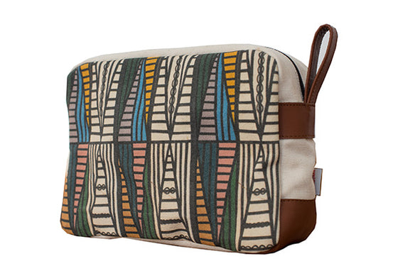 Ndebele Green Men's Toiletry Bag by Ed Suter