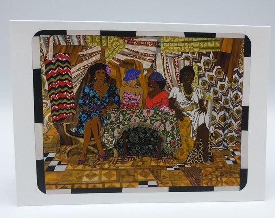 "Mickalene Thomas ""Girlfriends & Lovers"" (2008) Notecard"