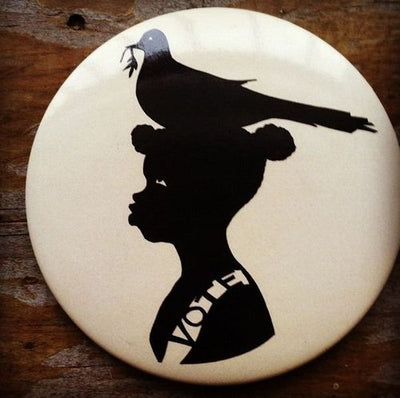 Kara Walker for Gap Artist Editions Vote Button, 2008