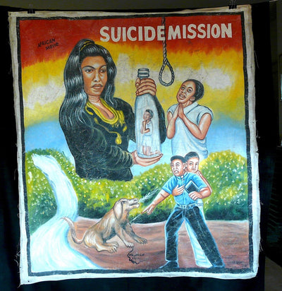 Suicide Mission Movie Poster by Mr. Brew, Ghana