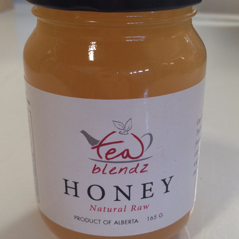 tea blendz, natural raw honey, produced in Alberta