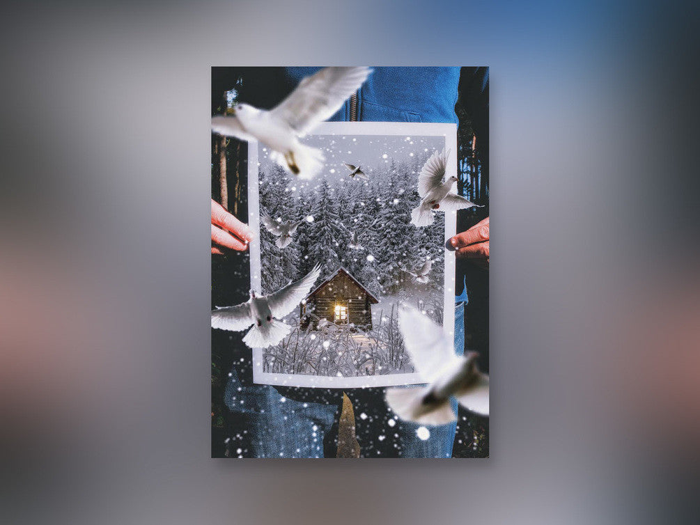 Unsplash Holiday Card - Magical Doves