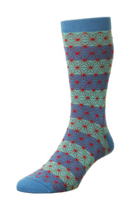 Asanoha Pantherella Socks - Fine And Dandy