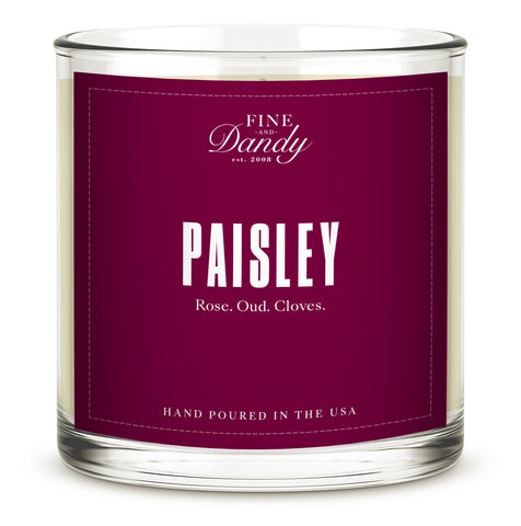Paisley Candle