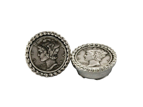 Mercury Dime Button Covers