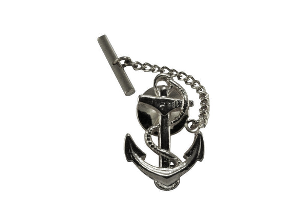 Silver Anchor Pin - Fine and Dandy