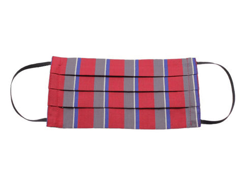 Red Bold Striped Face Mask - Fine And Dandy