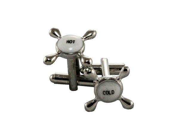 Silver Hot & Cold Cufflinks - Fine and Dandy
