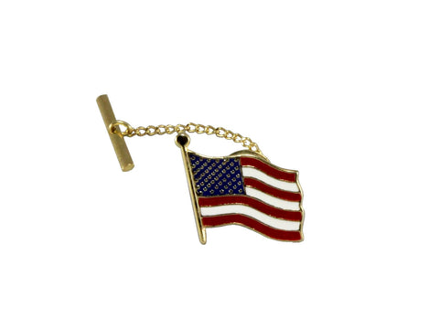 Gold American Flag Pin - Fine and Dandy