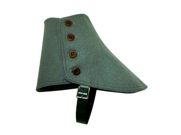 Grey Wool Felt Spats - Fine and Dandy