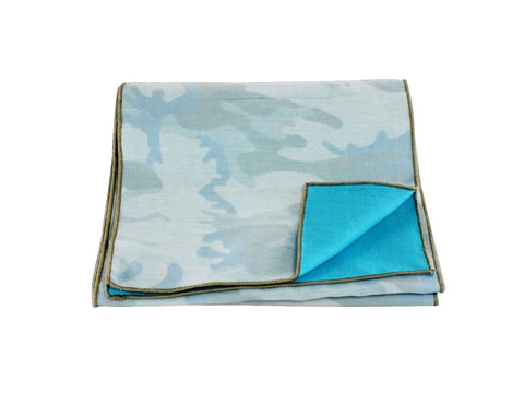 Double Sided Teal Camo Scarf